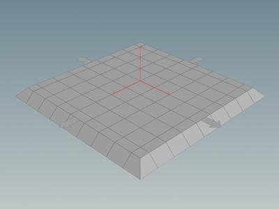 만들어진 'groundplane1' 노드의 Output Flag 를 클릭해야 평면 오브젝트를 볼 수 있다.