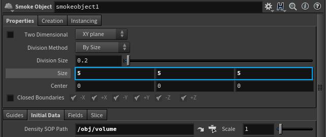 Size 속성값을 크게 할수록 솔버가 계산할 Voxel 양이 증가하므로 시뮬레이션 시간이 느려지게 된다.