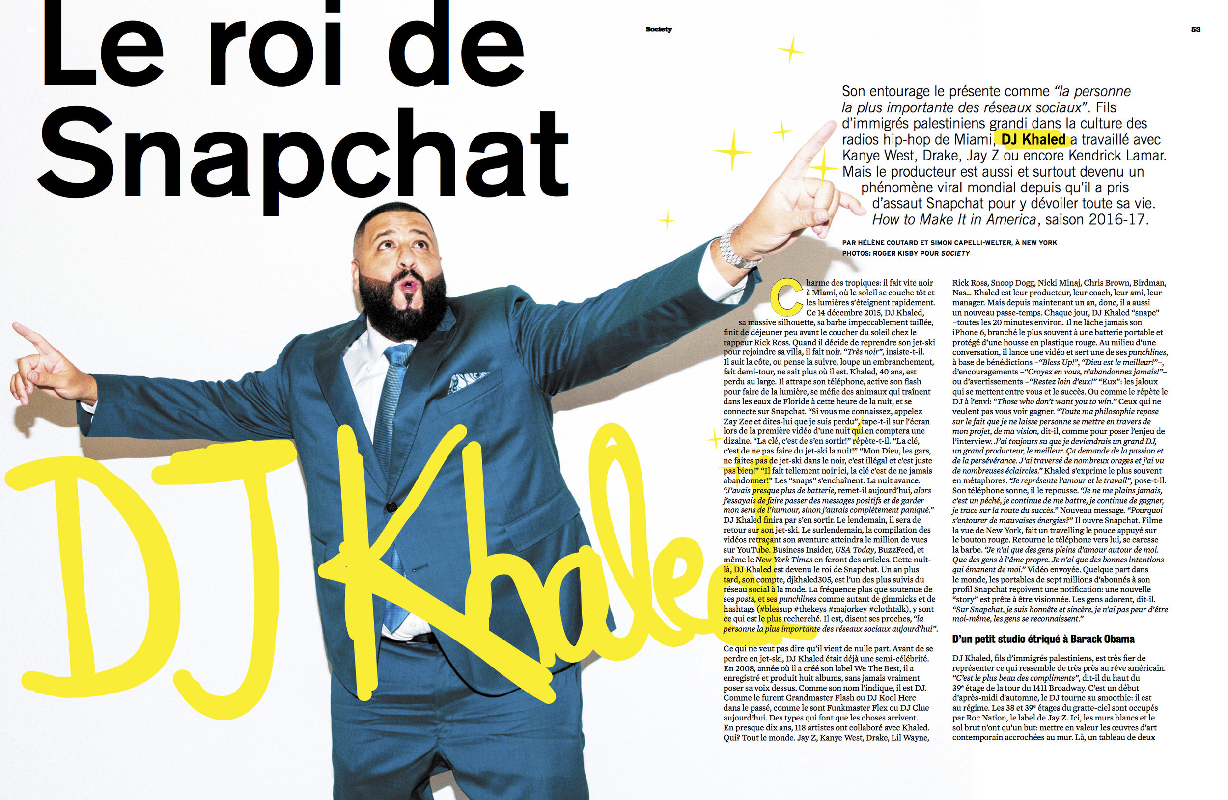 DJ Khaled for Society Magazine