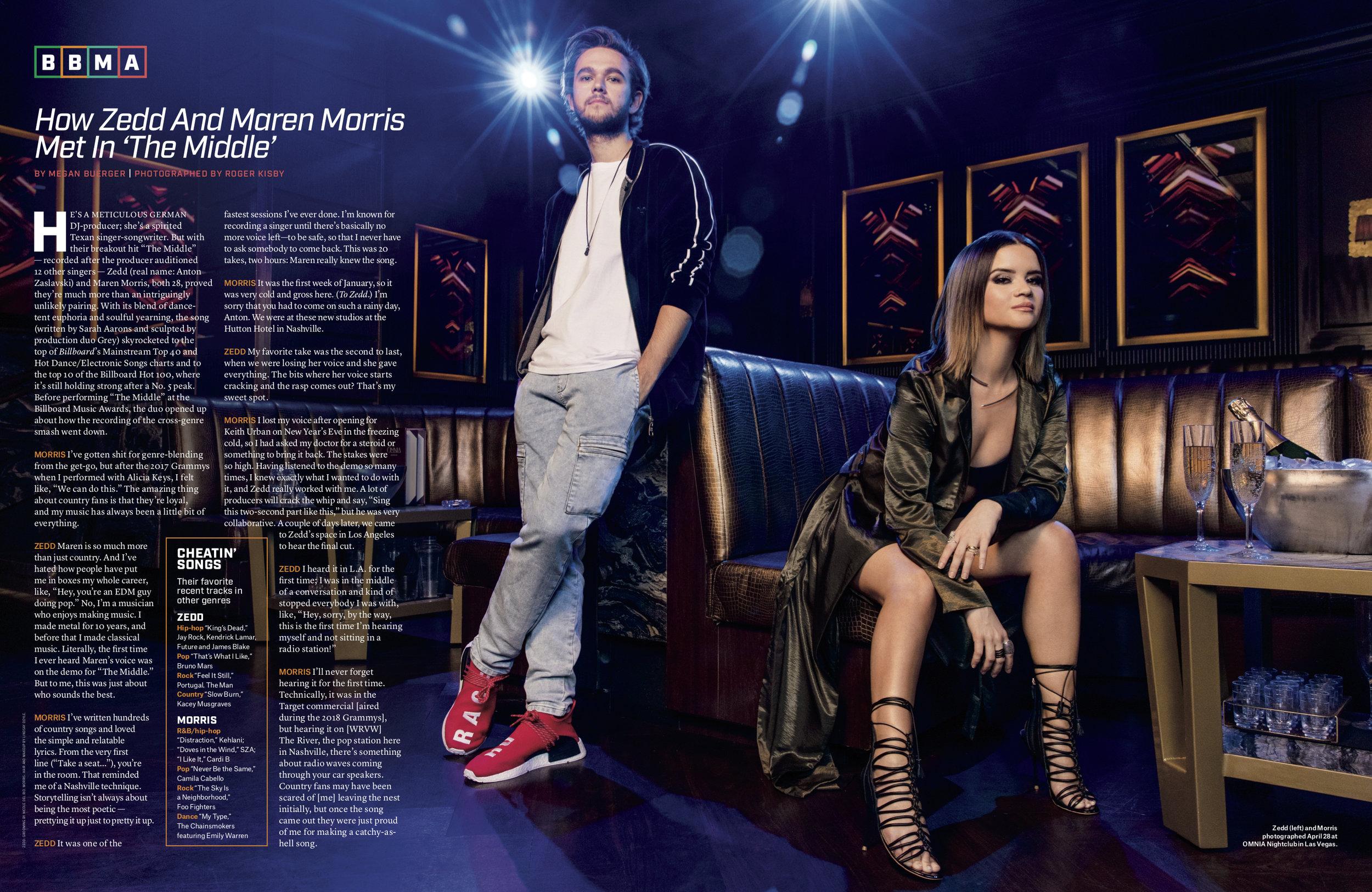 Zedd and Marren Morris for Billboard