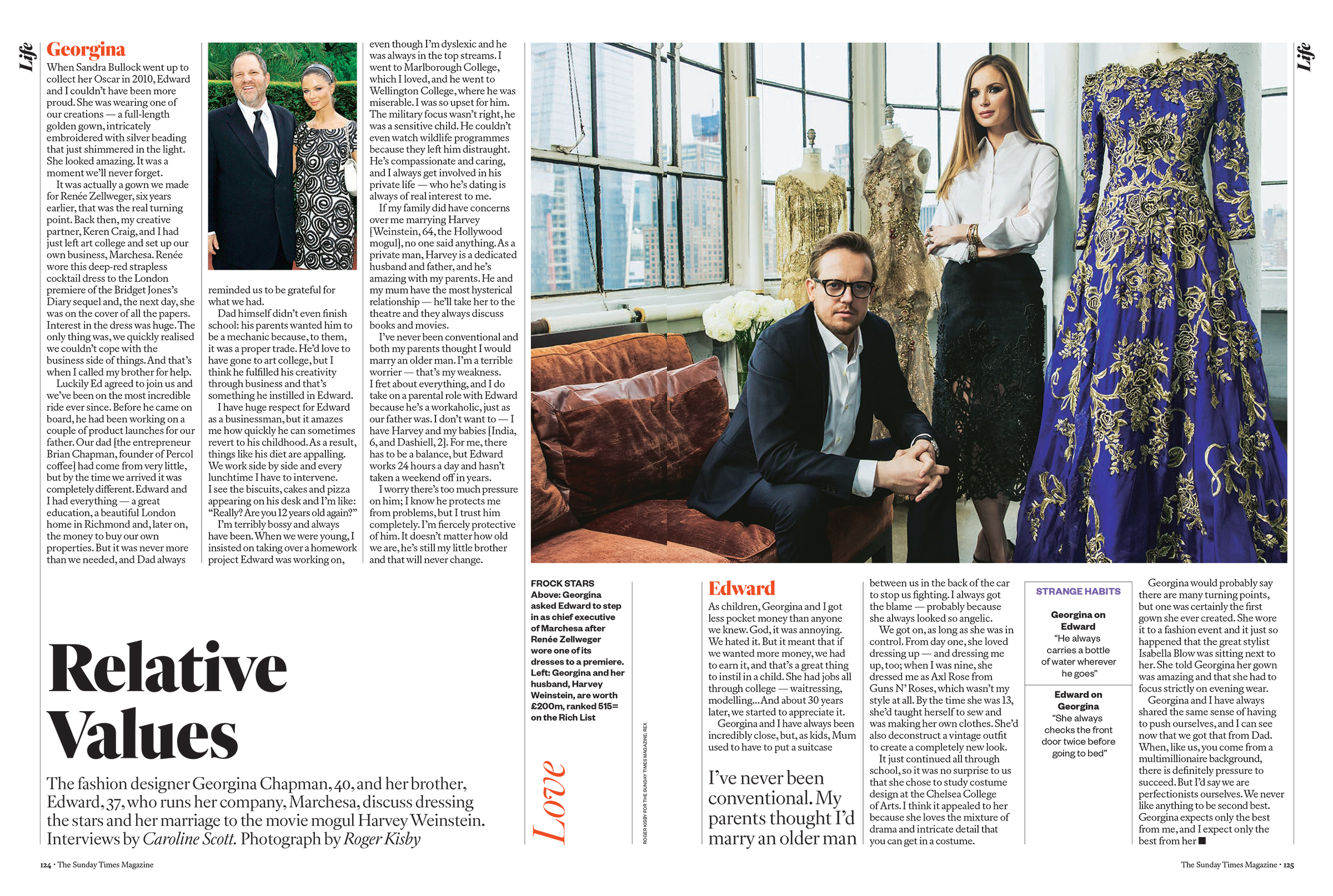 Georgina and Edward Chapman for The Sunday Times Magazine