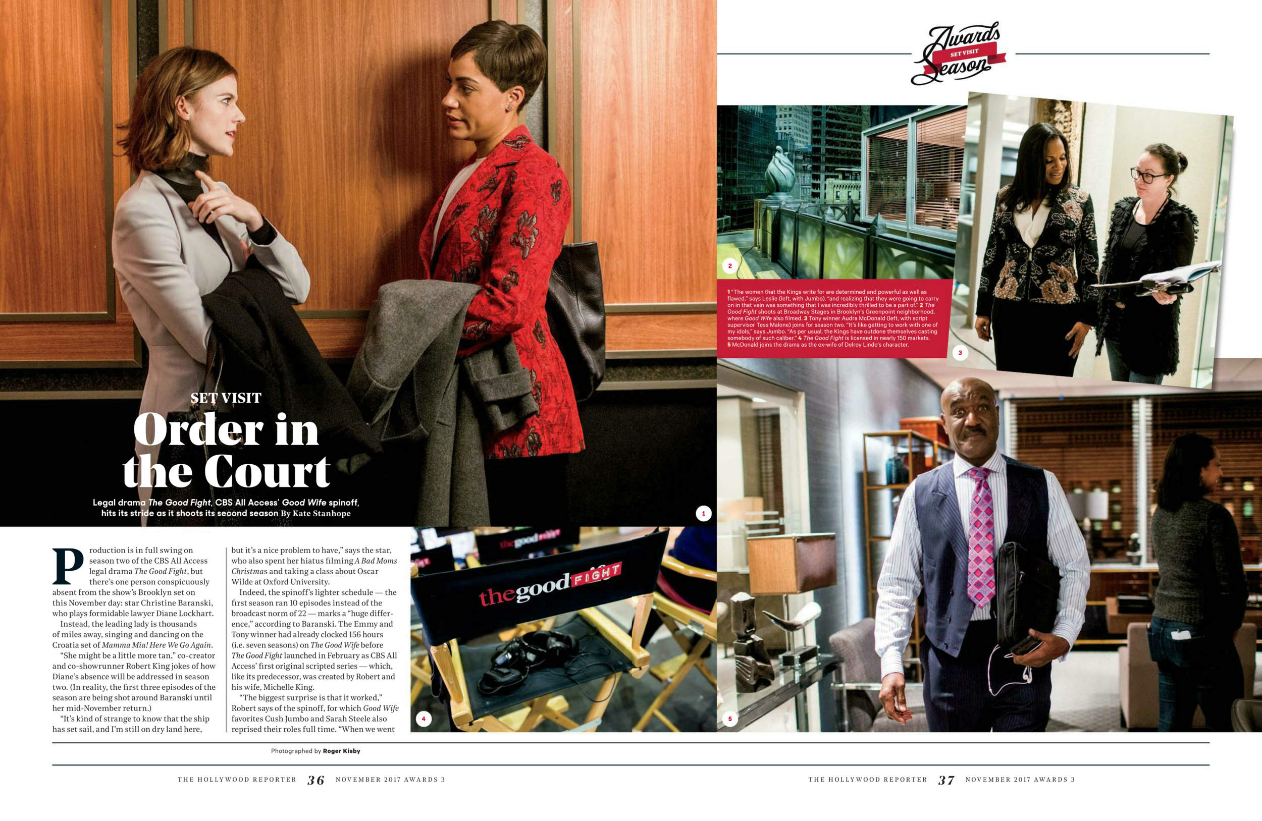 "BTS of ""The Good Fight"" for The Hollywood Reporter"