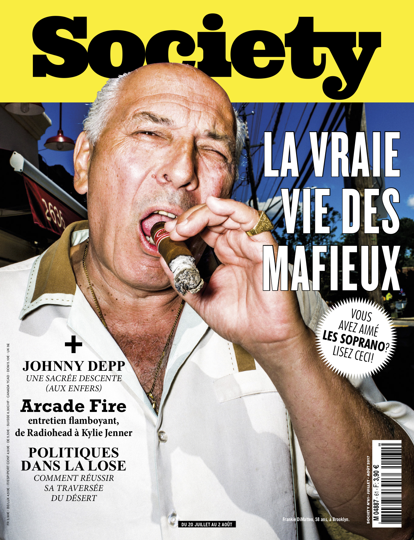 Former mob bosses, hitmen, and informants for Society Magazine