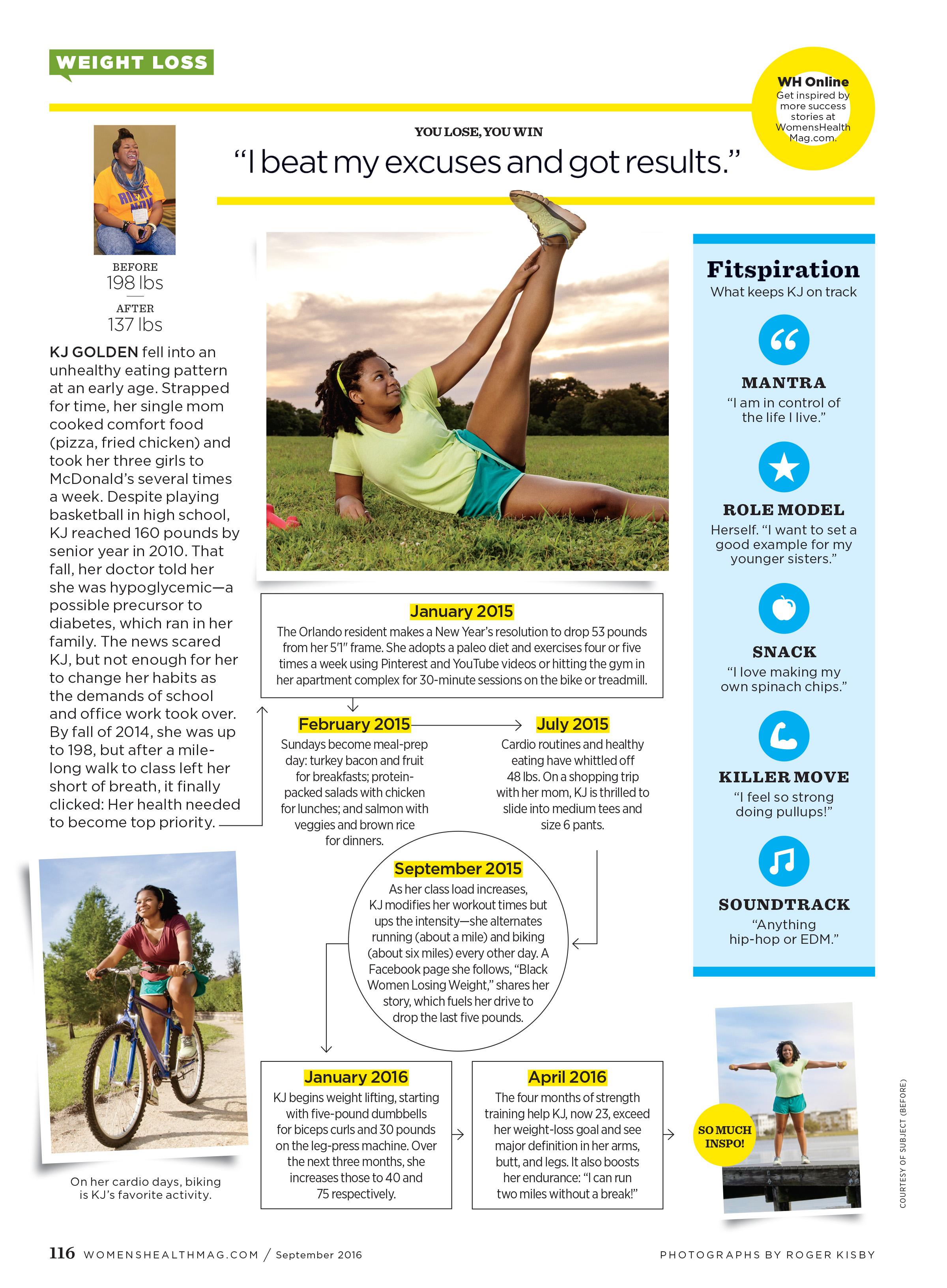 KJ Golden for Women's Health