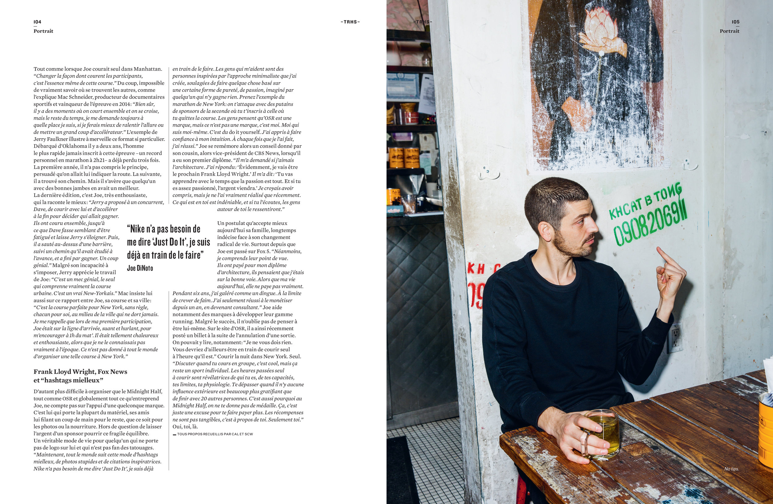 Joe DiNoto for Running Heroes Magazine