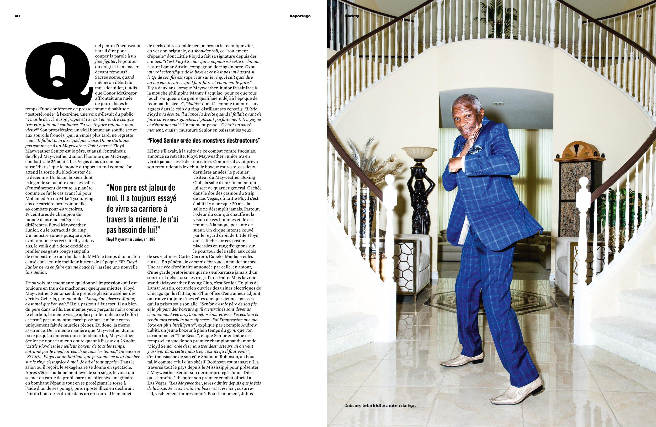 Floyd Mayweather Sr. for Society Magazine