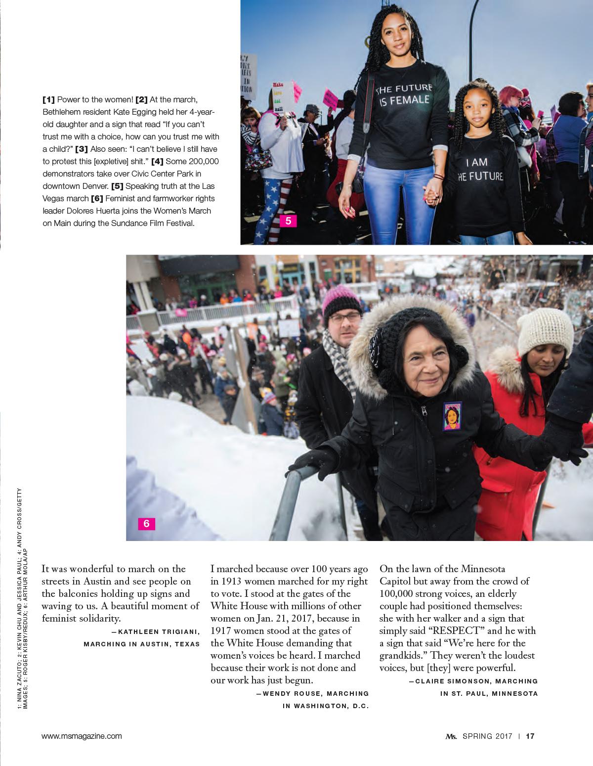 Inaugural Women's March - Ms. Magazine
