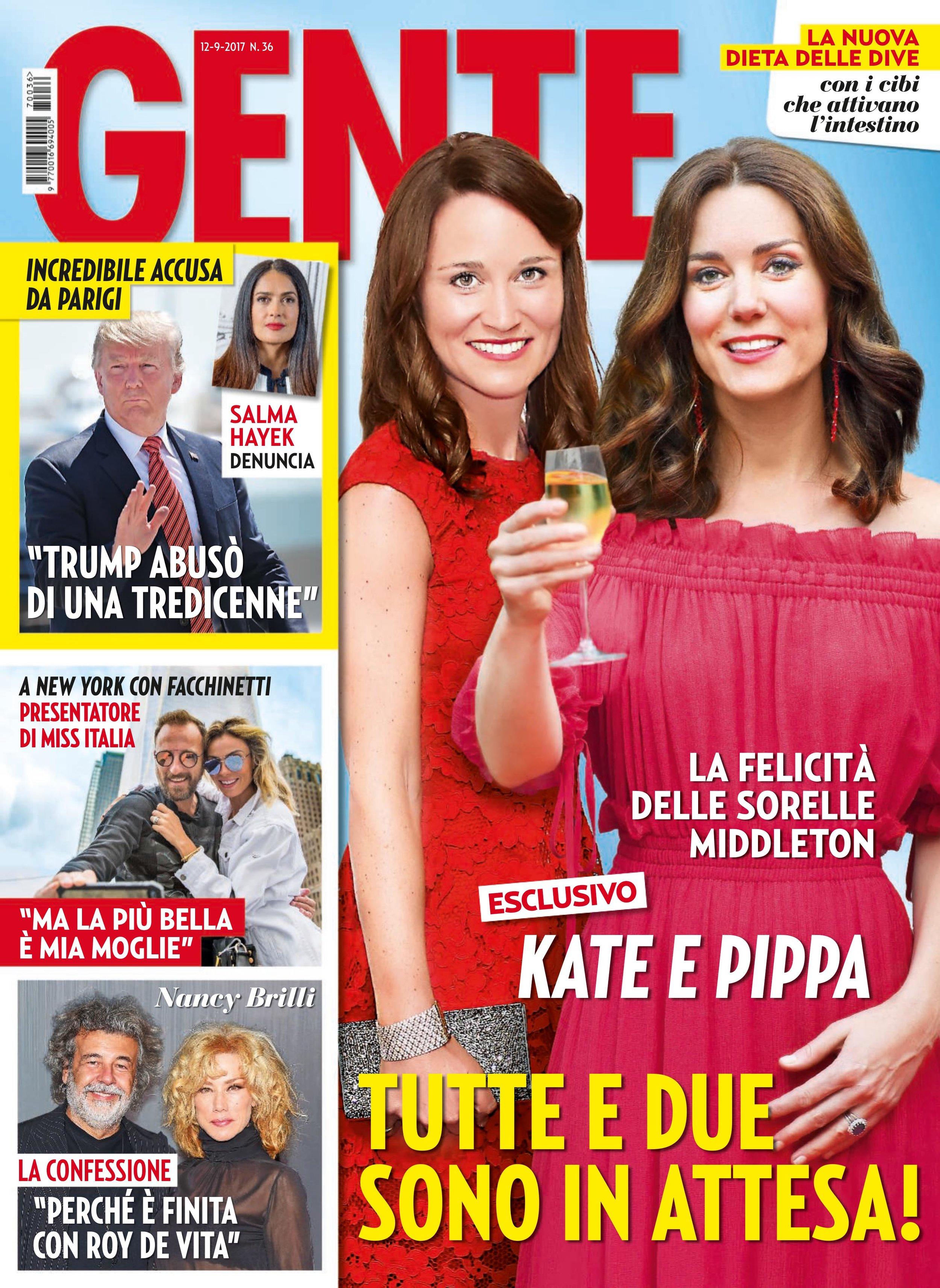 Wilma and Francesco Facchinetti for Gente Magazine