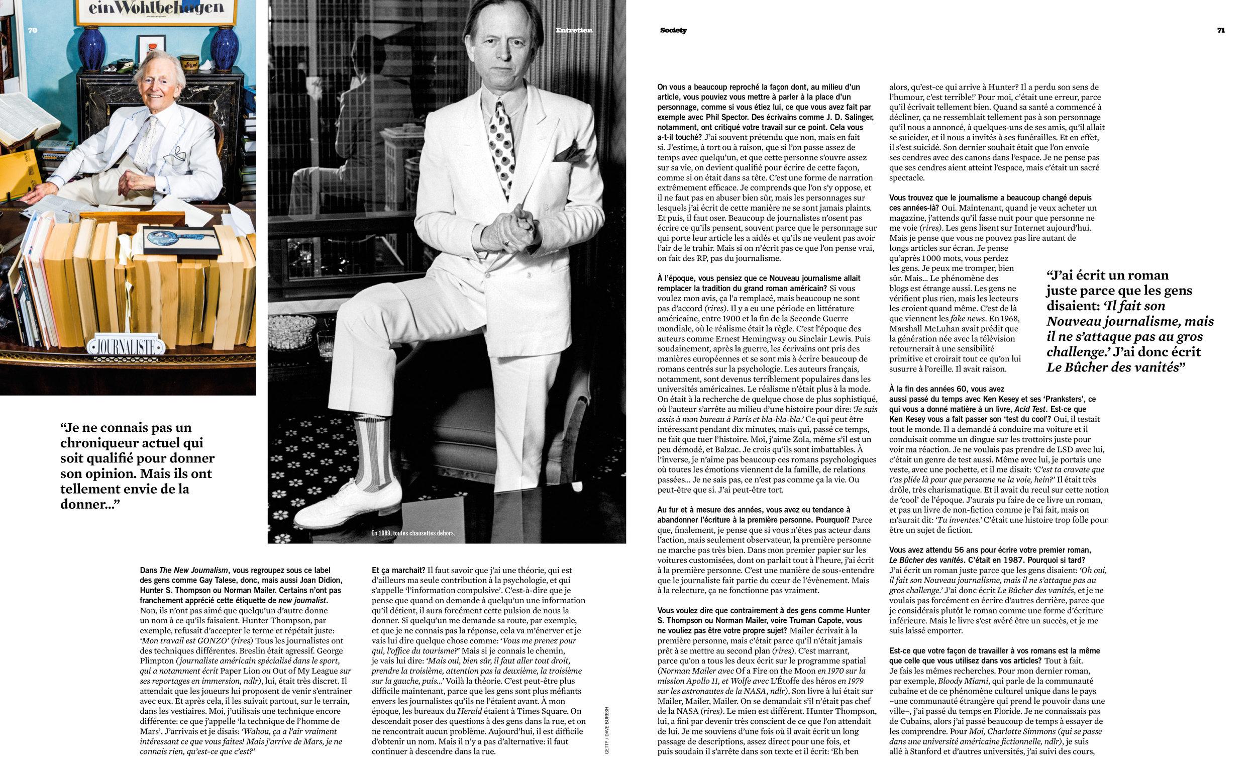 Tom Wolfe for Society Magazine