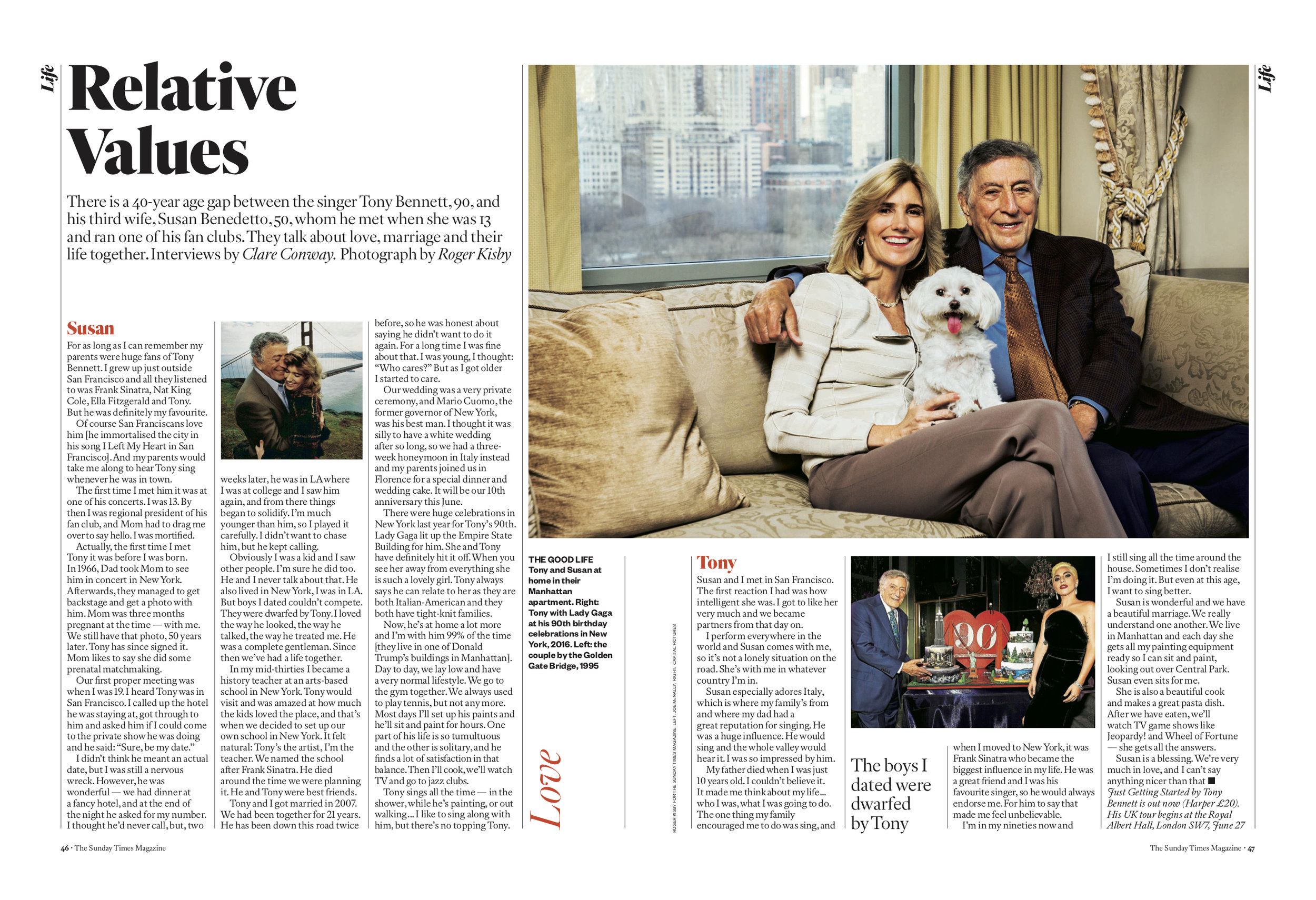 Tony Bennett and Susan Benedetto for The Sunday Times Magazine