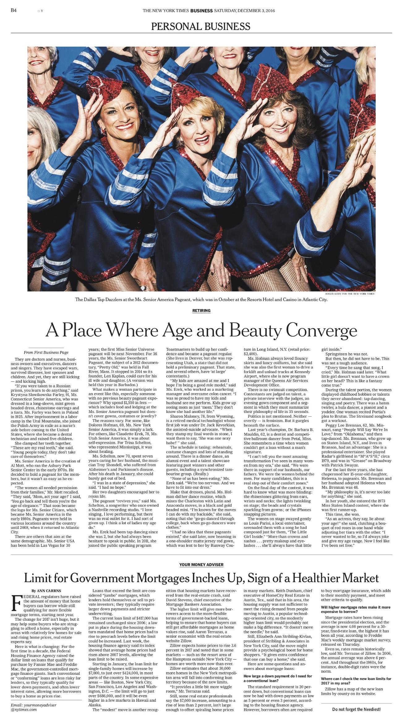 Ms. Senior America for NYT