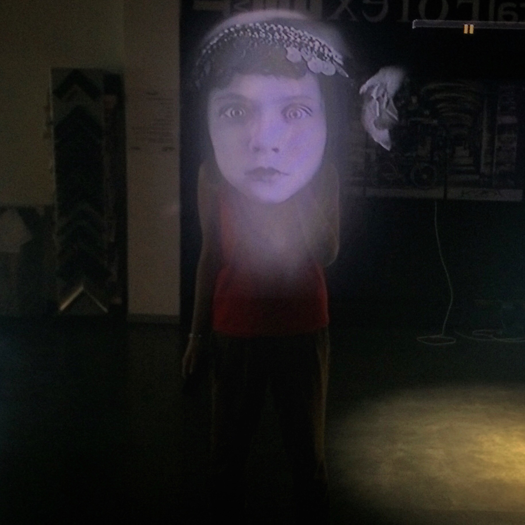 Looking Into The Mirror , Interactive Video Art Wall  Commissioned by:  TRISON and Clorofila Gallery  Exhibited at:  Matadero, Madrid, Spain, 2015  Materials:  video, LED screen, two-way mirror, custom screen housing  Dimensions:  47 x 79 x 8 in