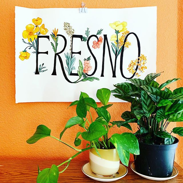 Made this Fresno watercolor painting live during the @bigfresnofair 🌼 I got such an great response about this painting, I made 11x8.5 prints available on etsy! Posters and sticker versions coming soon 😍