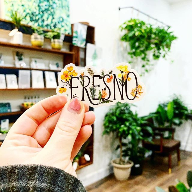 You Grow Girl + Fresno Floral stickers are now stocked at @foliage.clovis 🌿 Go grab one, or two, or eight ✨ (side note: will someone launch a GoFundMe for me to take a trip to the nail salon please 😂)