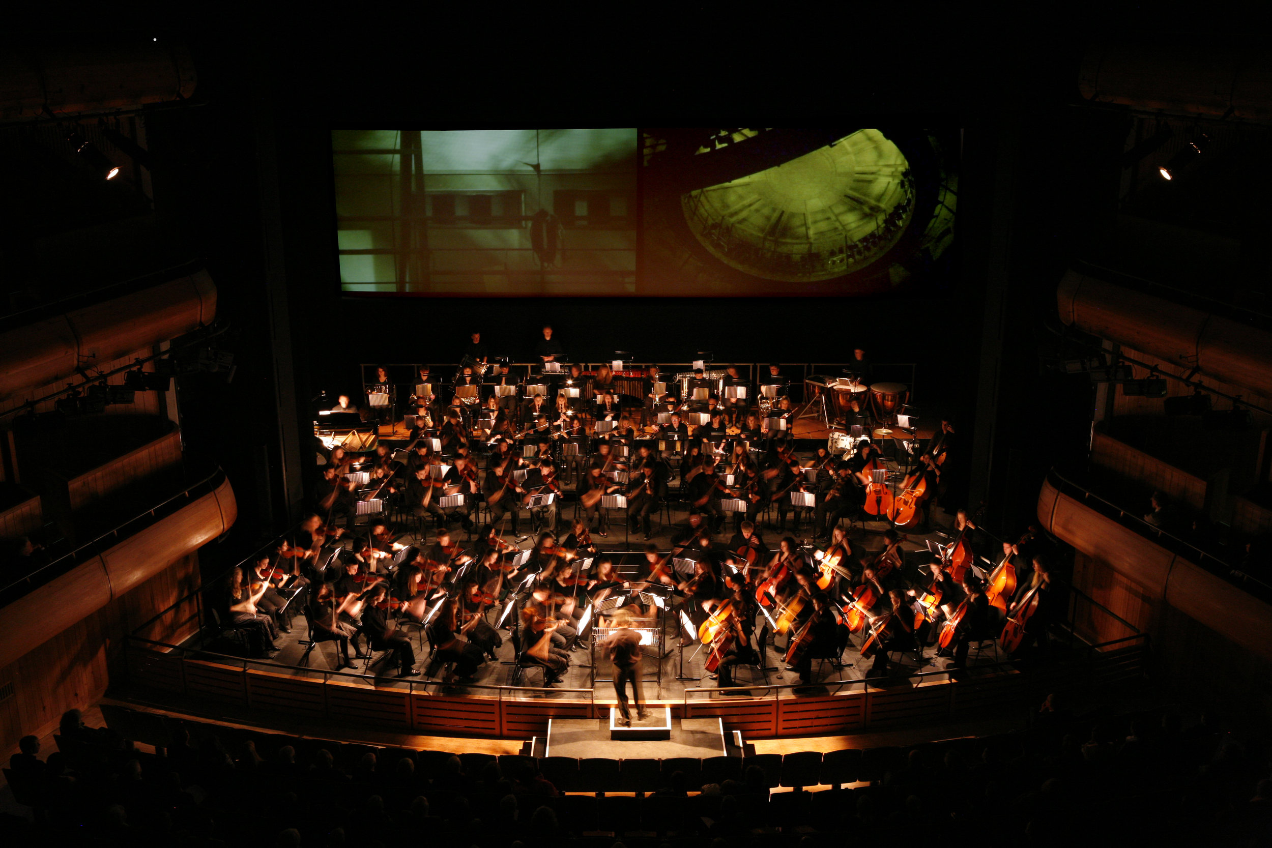 Screening of Auditorium, Glyndebourne Opera House, Nov 2007
