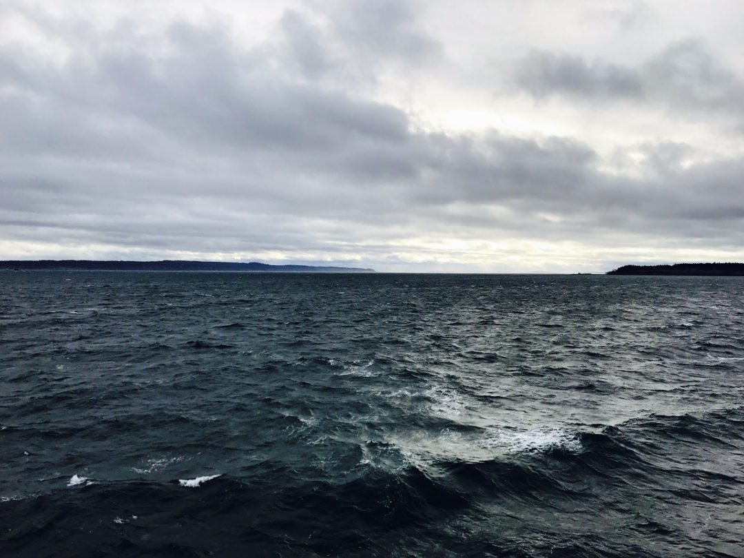 A stormy, wild ride on the ferry to Whidbey Island