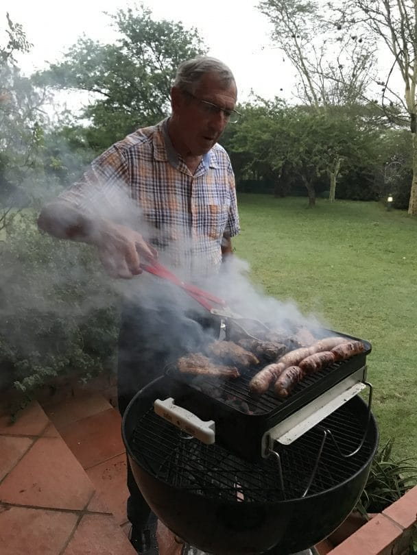 Mick as the braai master