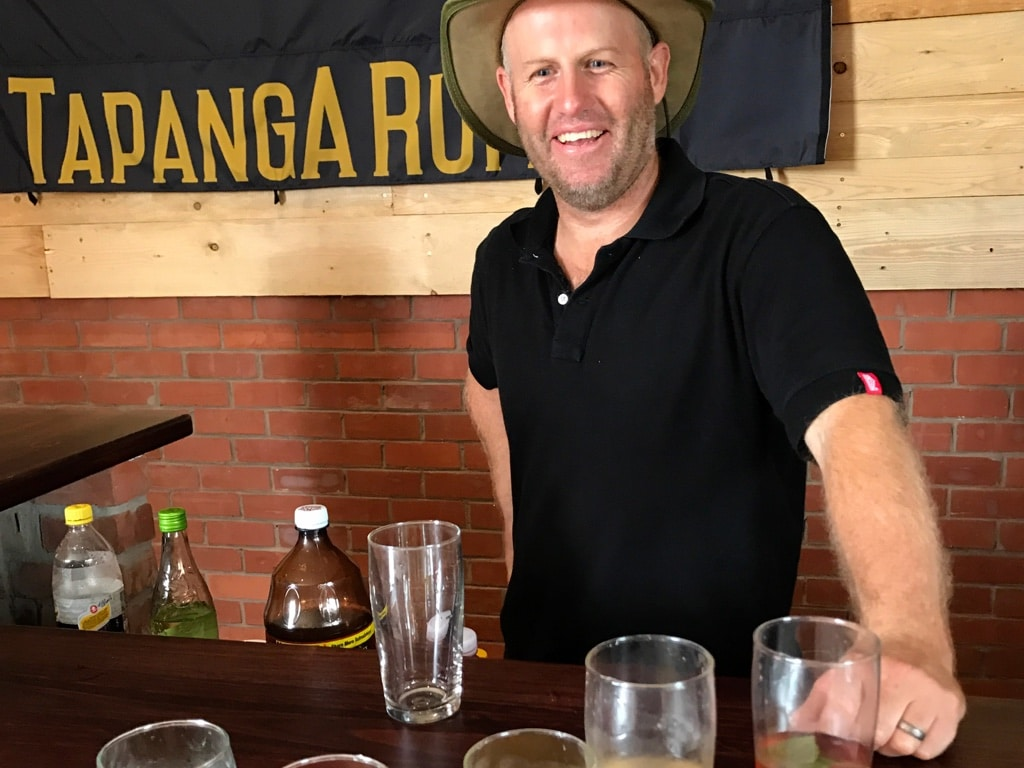 Mathias of Tapanga Rum in the tasting room