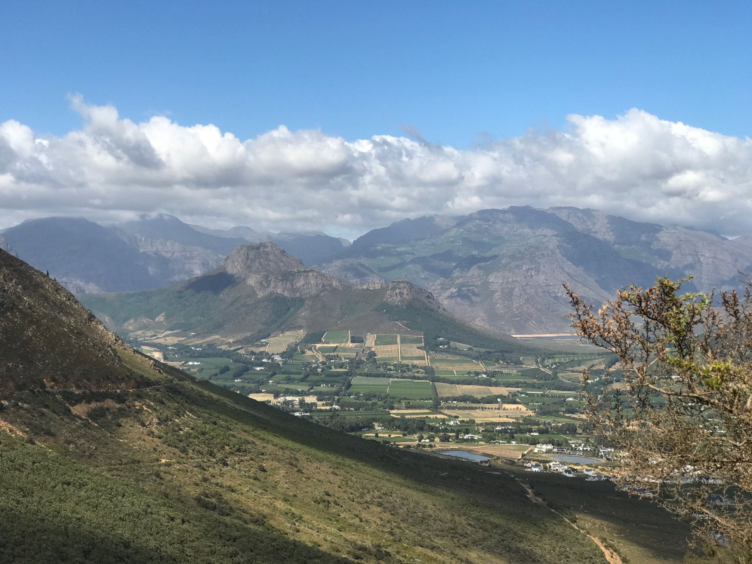 The view from Franschhoek Pass