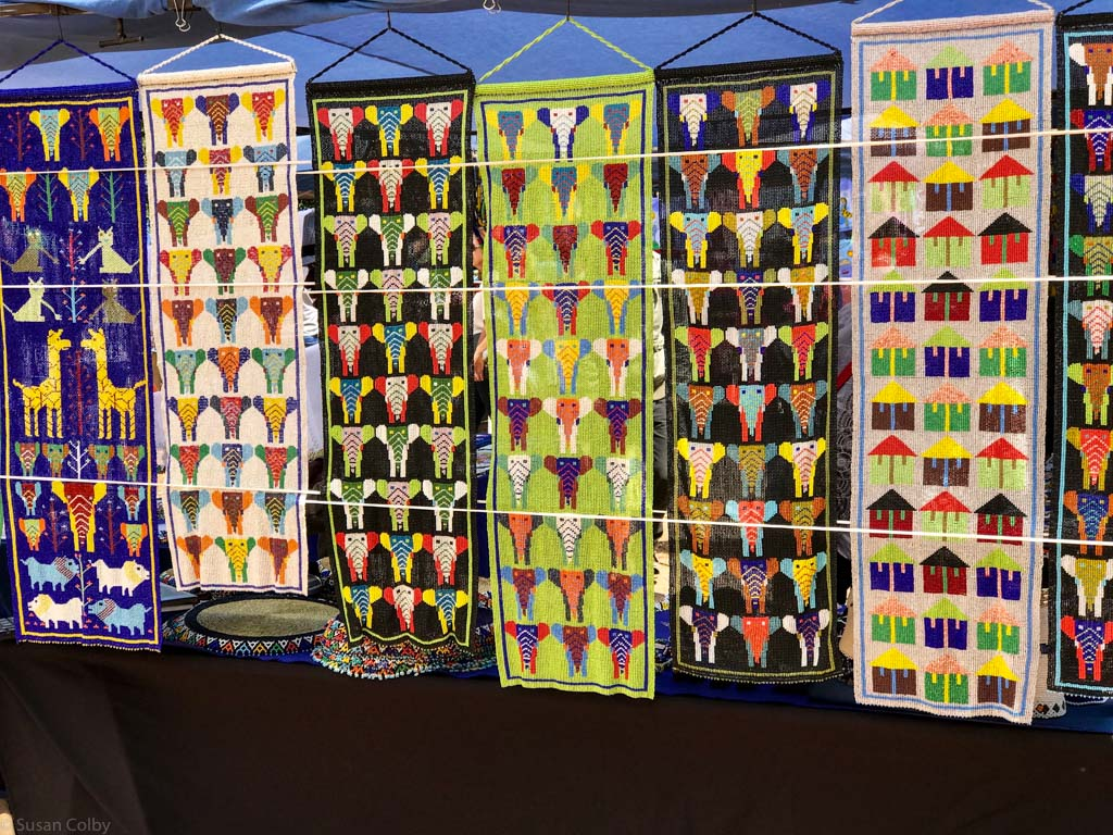 Exquisite bead panels at the Franschhoek Village Market