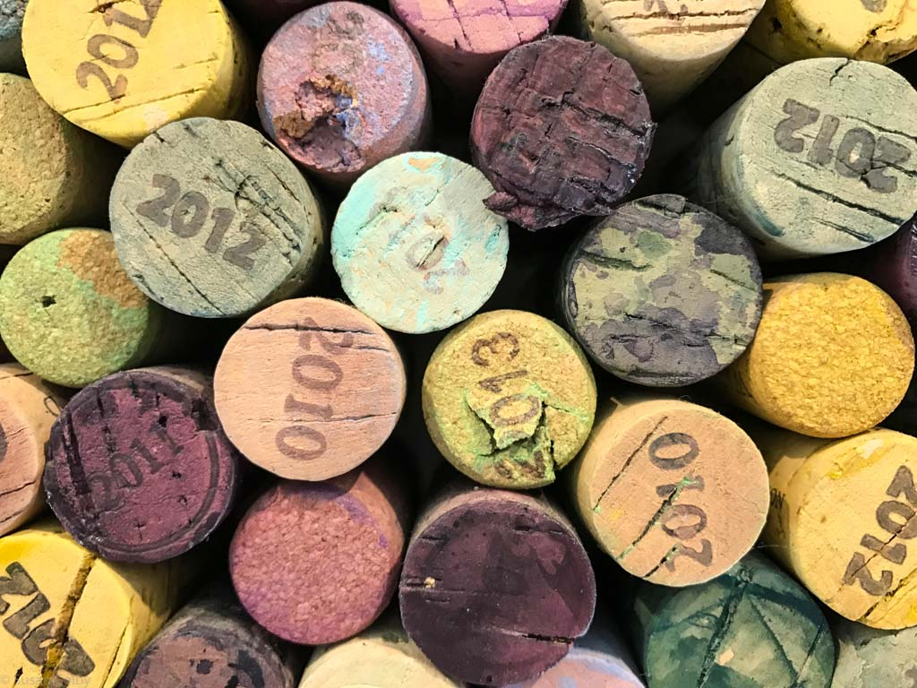 Mont Rochelle collection of corks