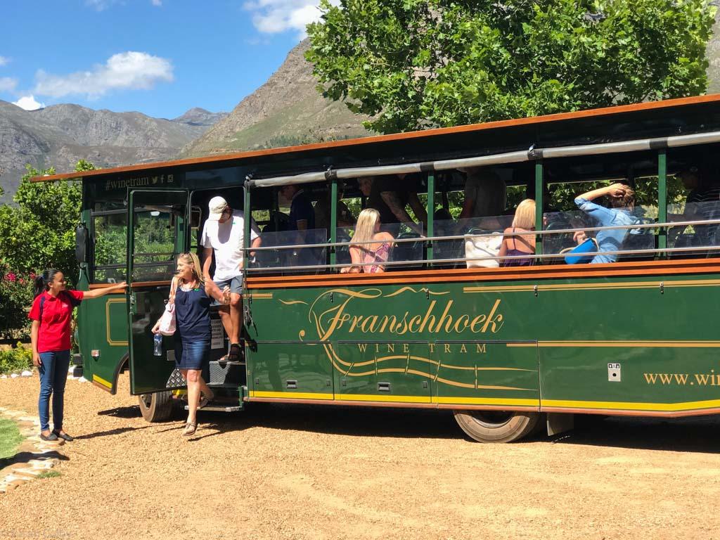 Tram on wheels