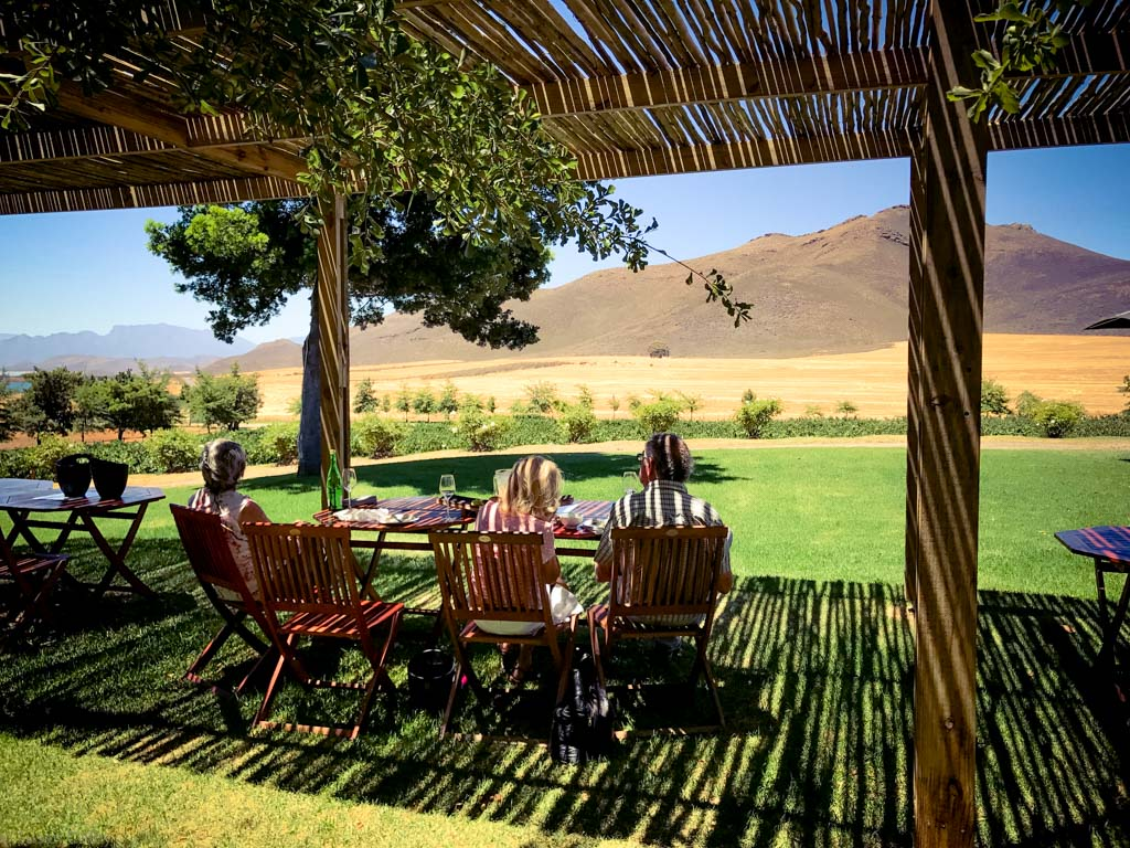 The view at Stettyn Cellars