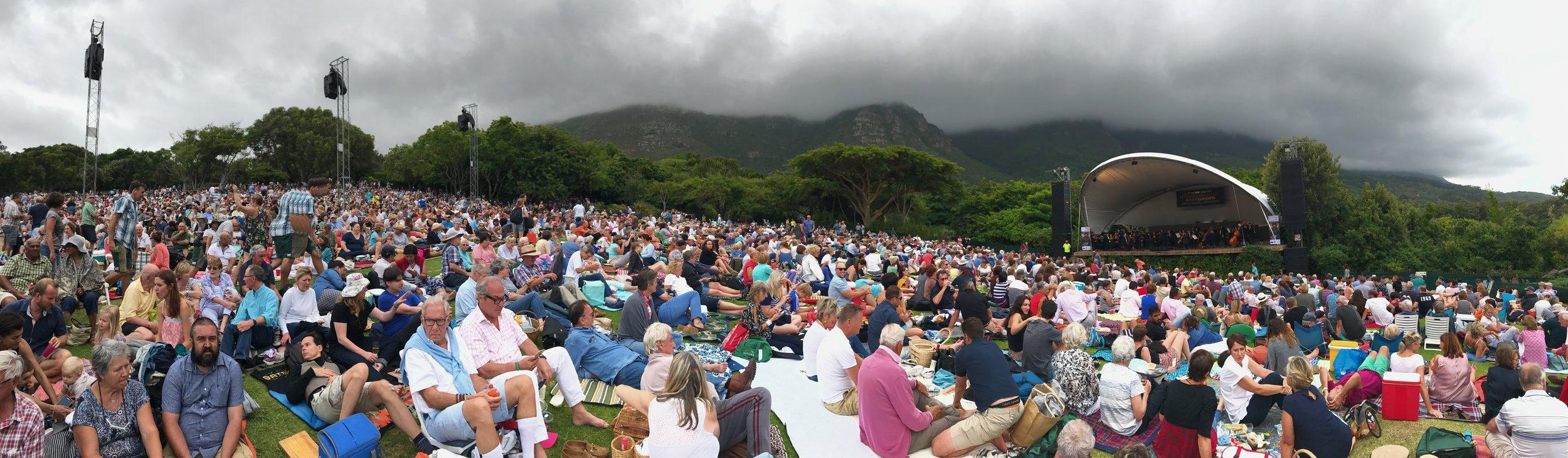 The crowds at Kirstenbosch