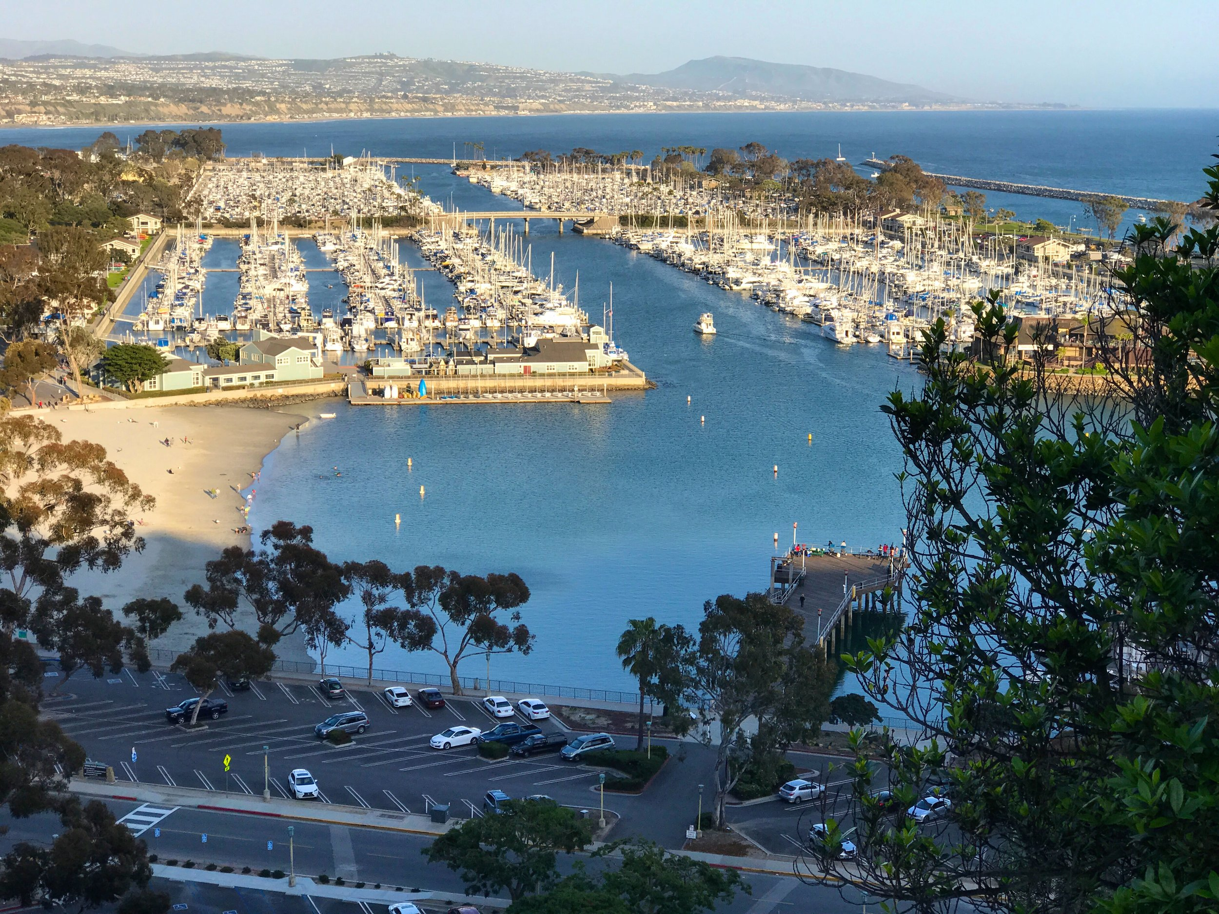 Dana Point Harbor - where I have been staying with Betsy and Barry