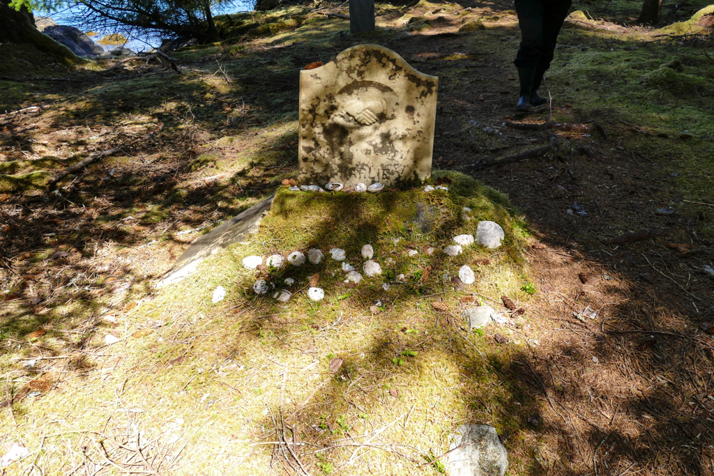 An unusual site - tombstone