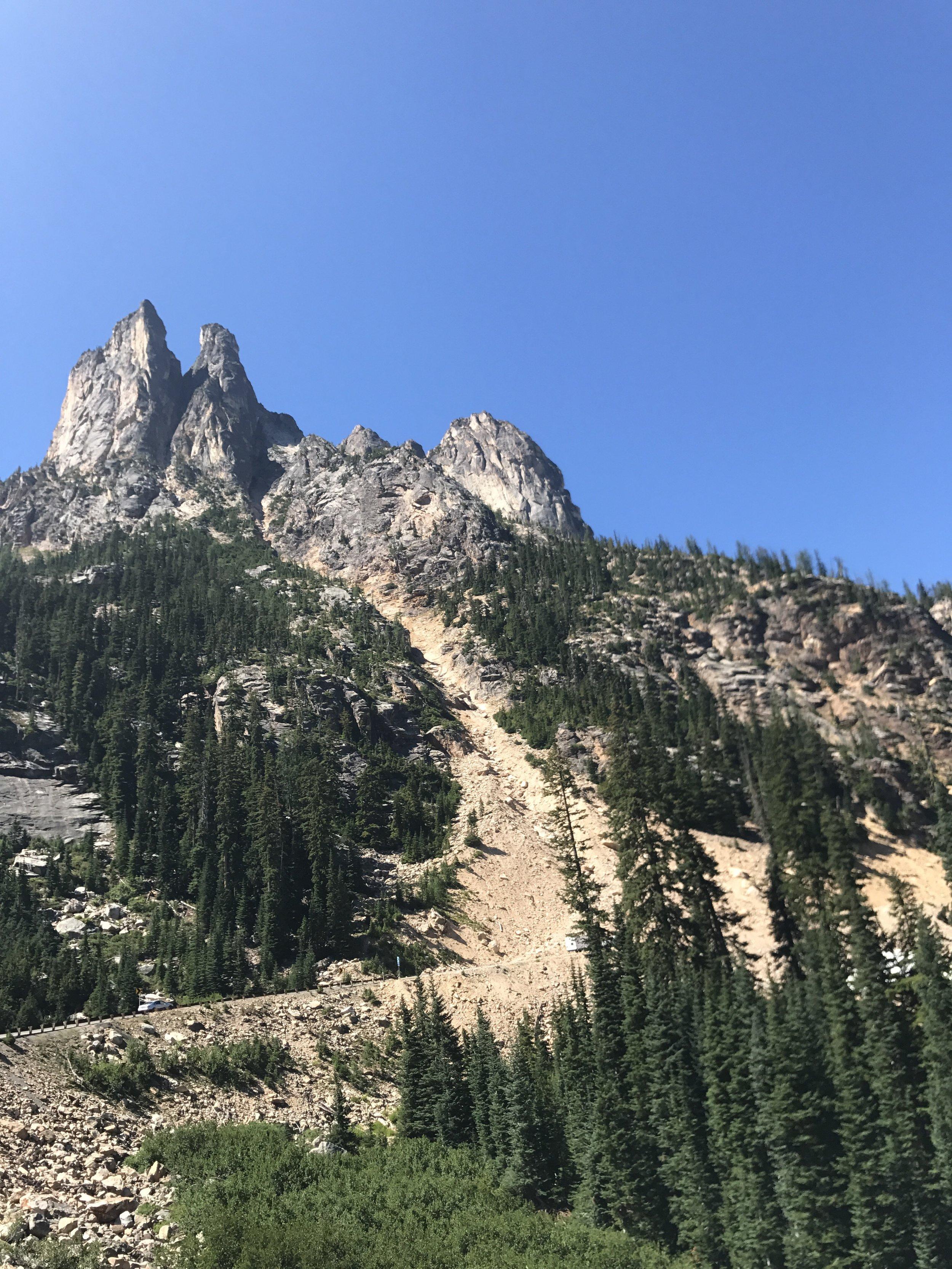 Cascade spires