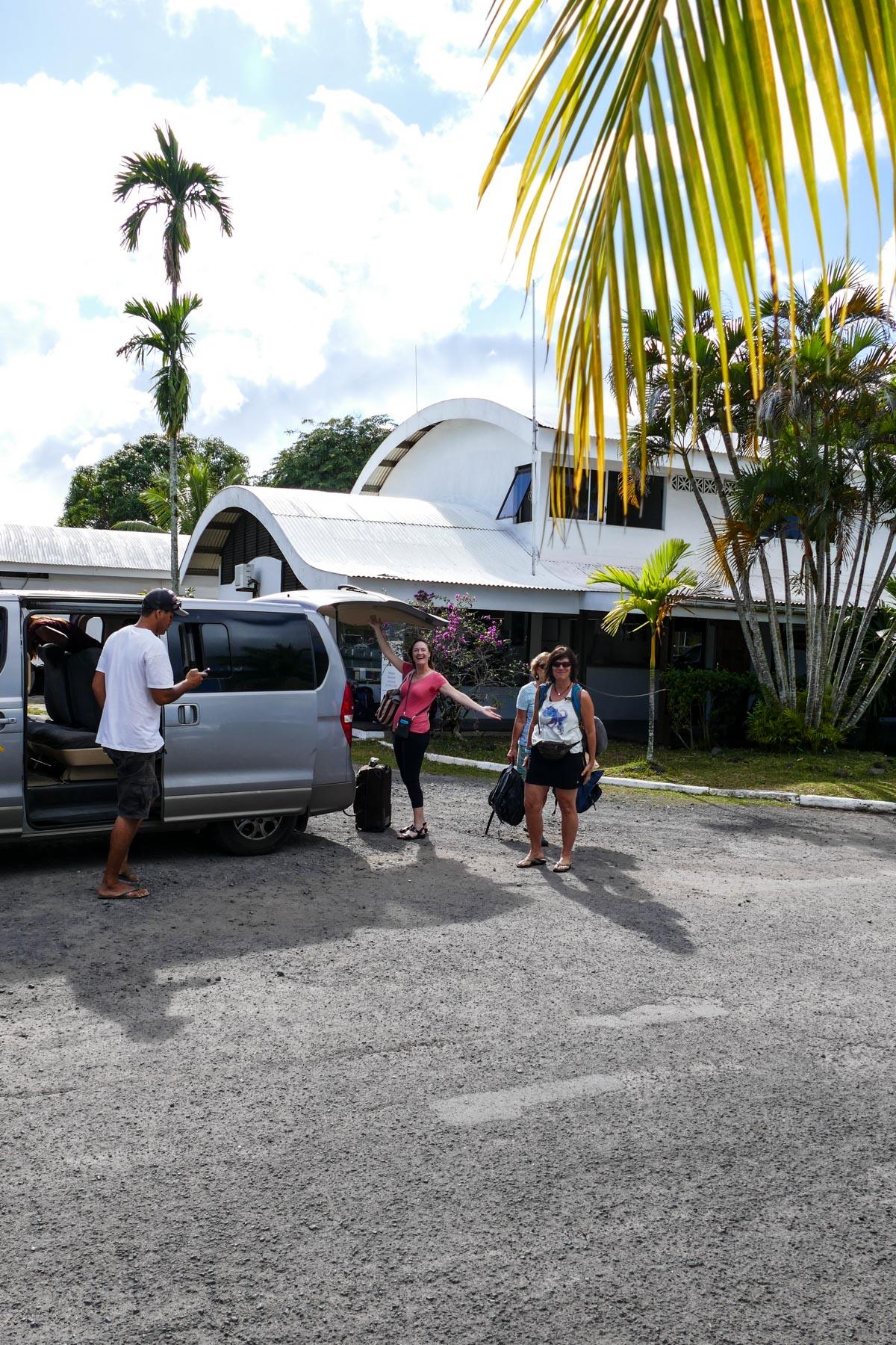 crew arriving