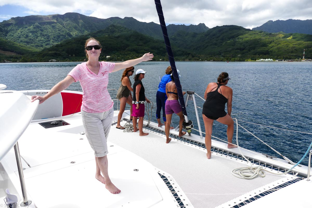 """Katie says """"The mooring is that way!"""""""