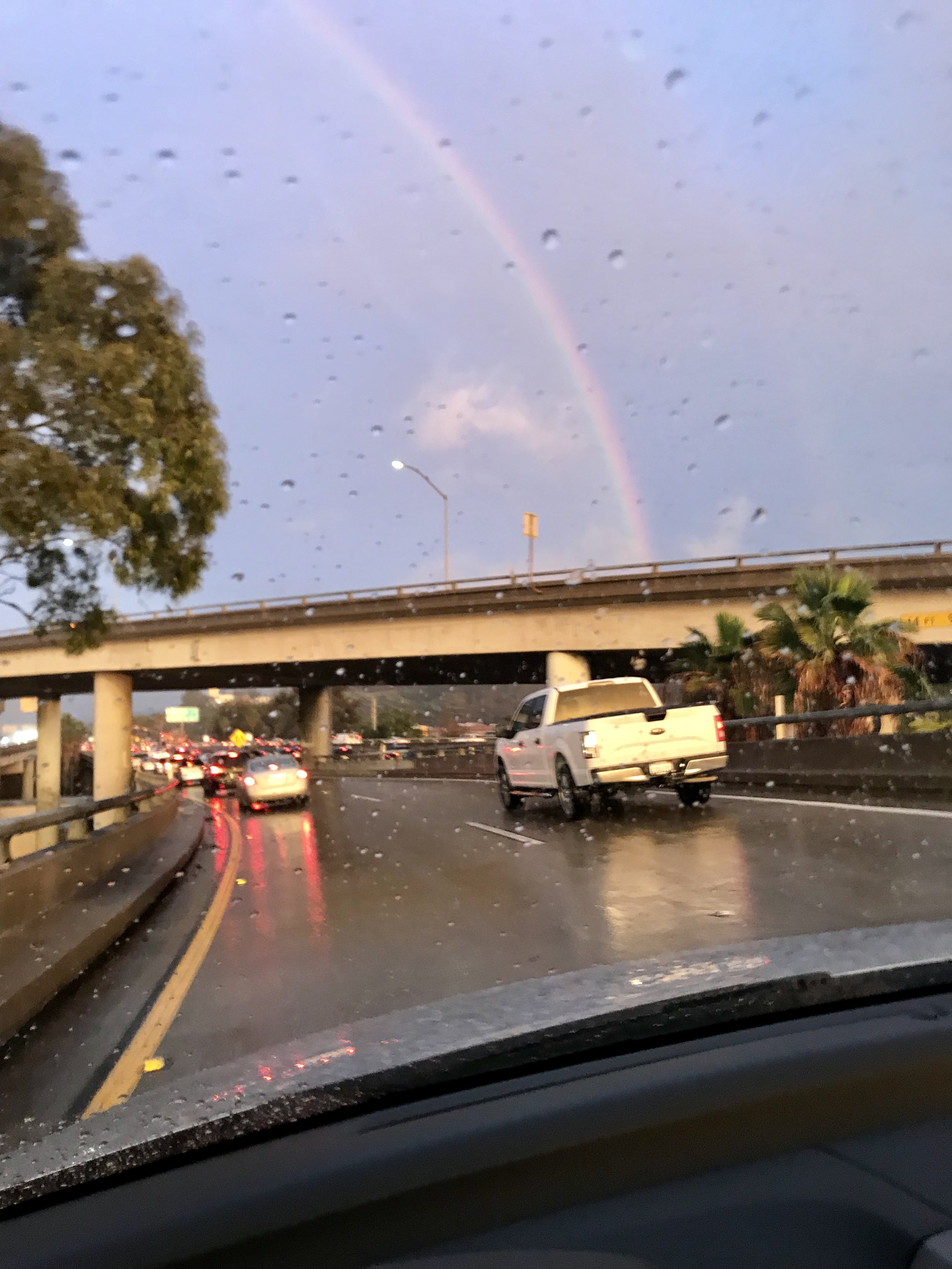 Gorgeous rainbow at the end of a really sh*tty drive.