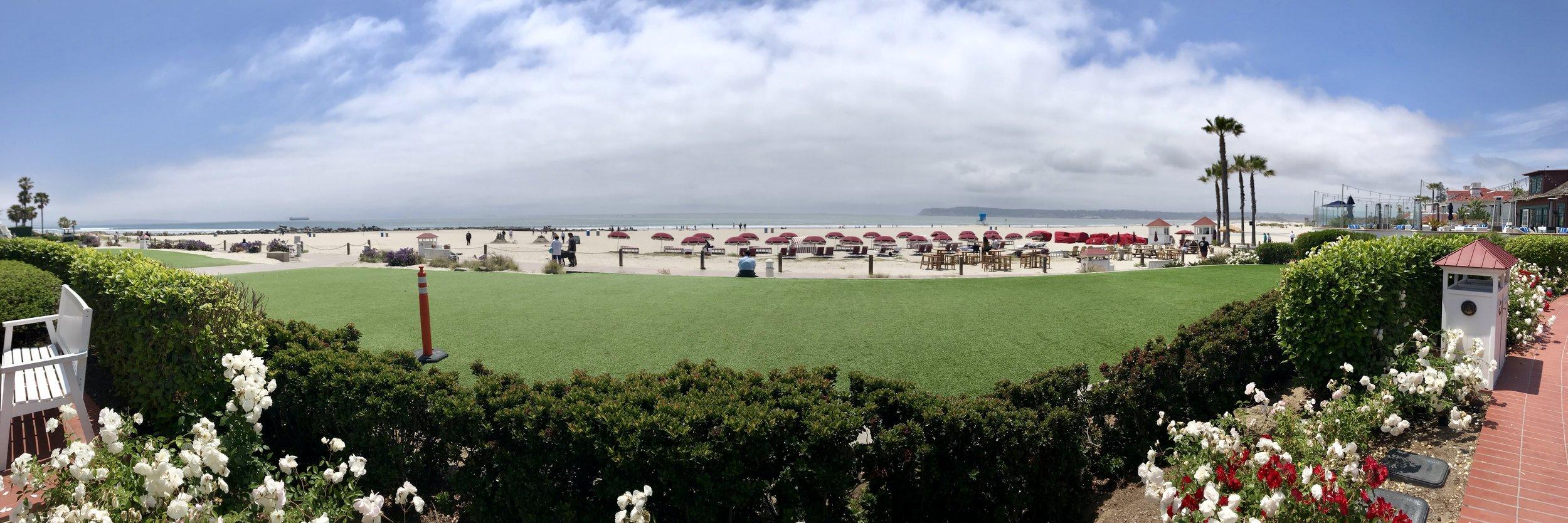 The beach at Hotel Del Coronado