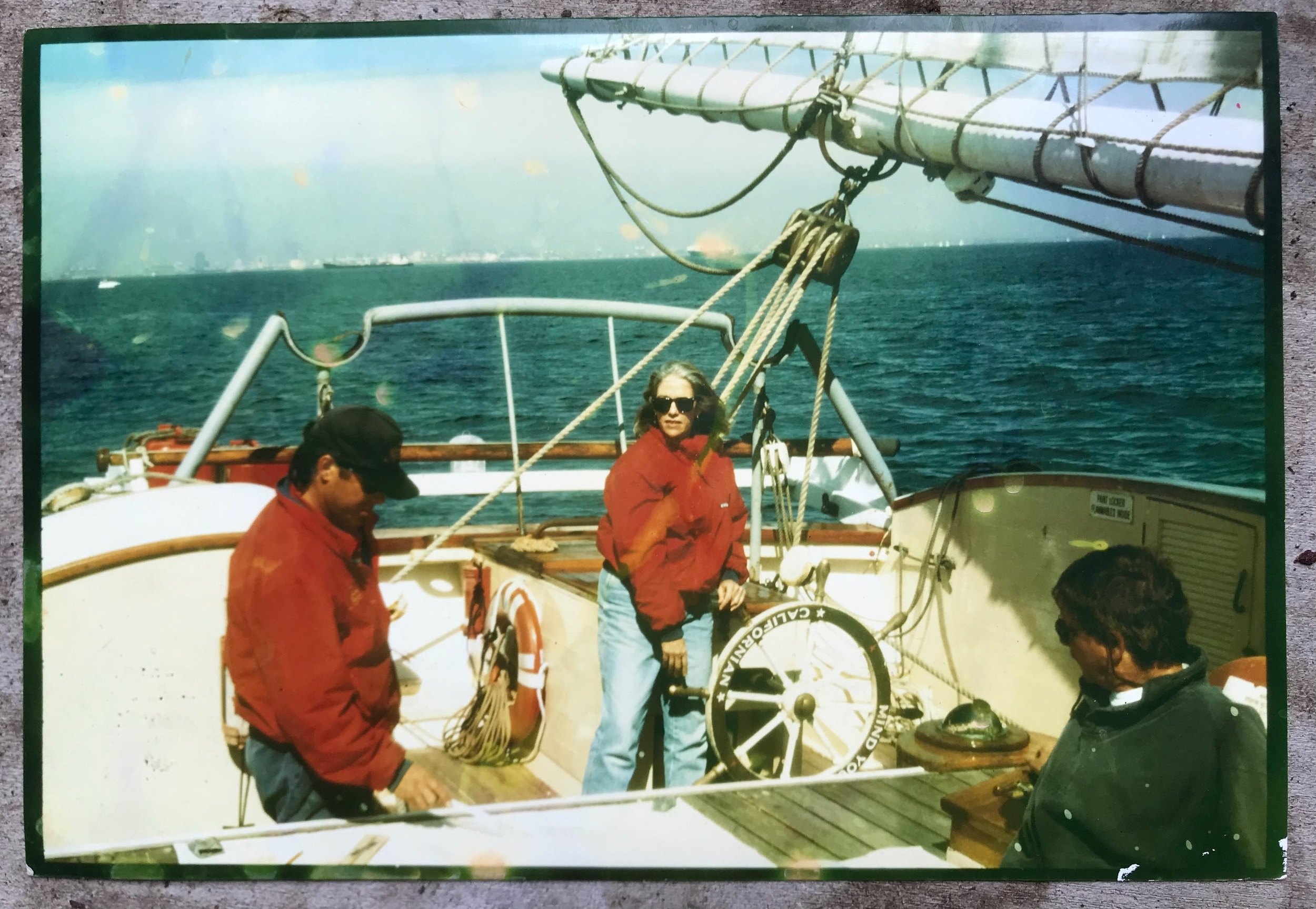 Photo of a photo sailing the Californian when I was The Log editor. One of the perks!