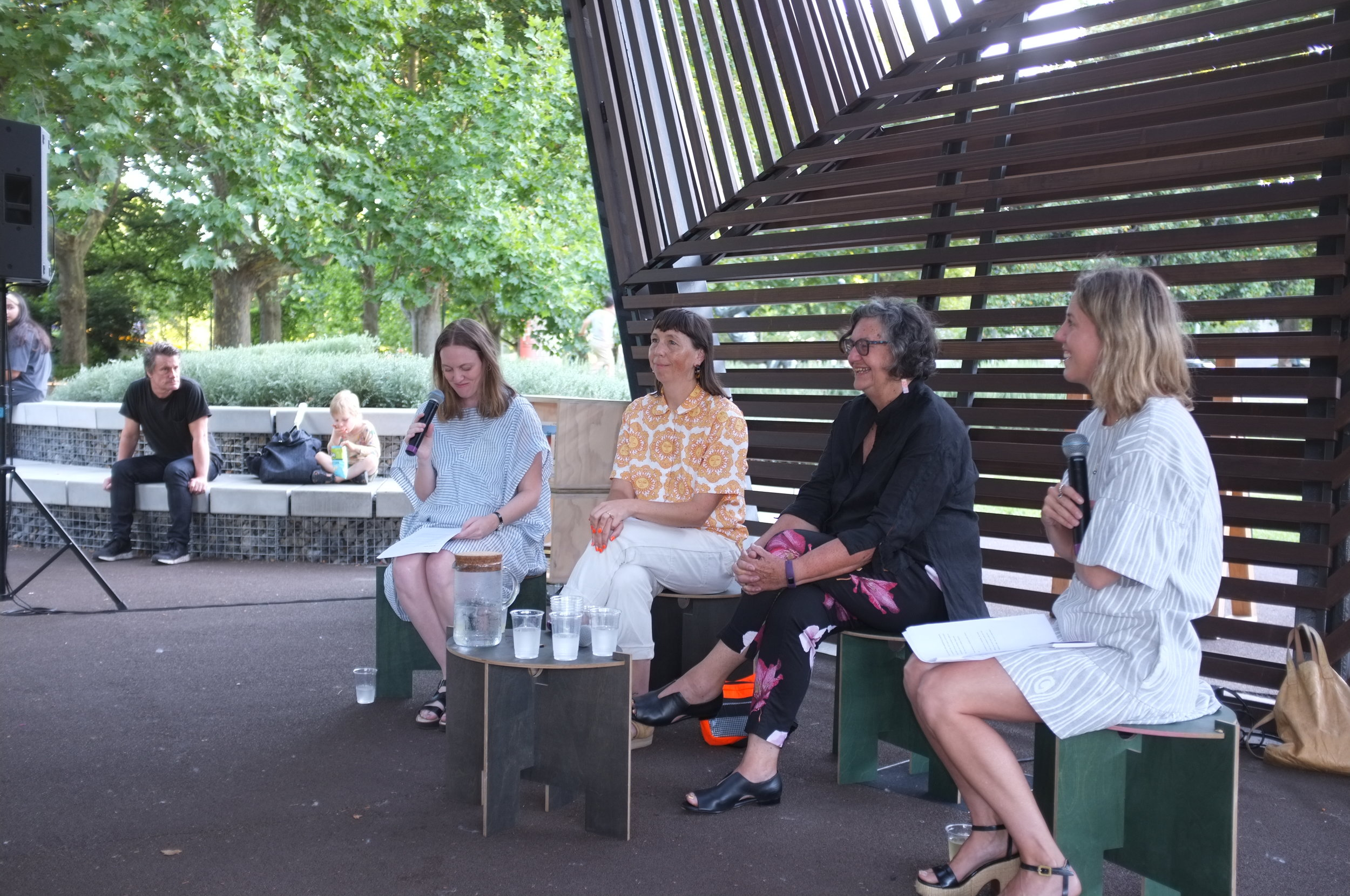 From L - R: Claire Feain, Beci Orpin, Marg D'Arcy and Ali Bird.