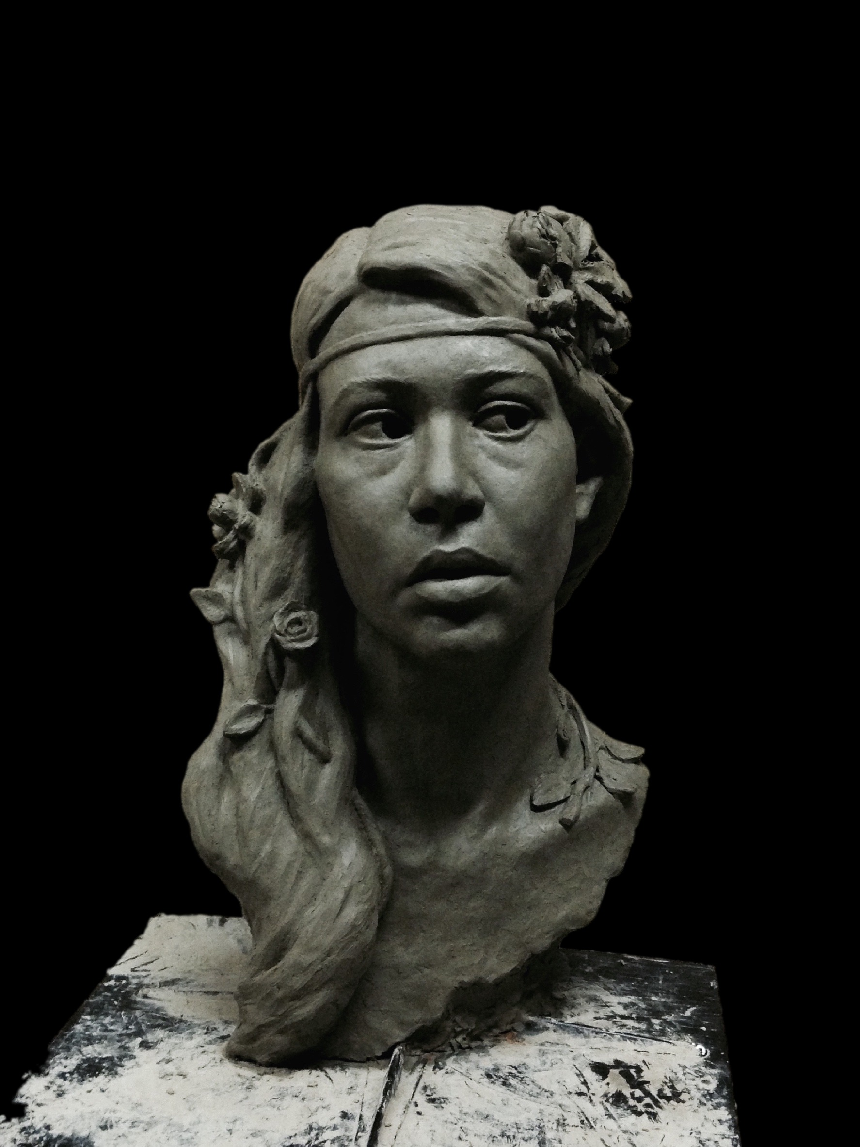 """The Goddess Freya"",in clay"