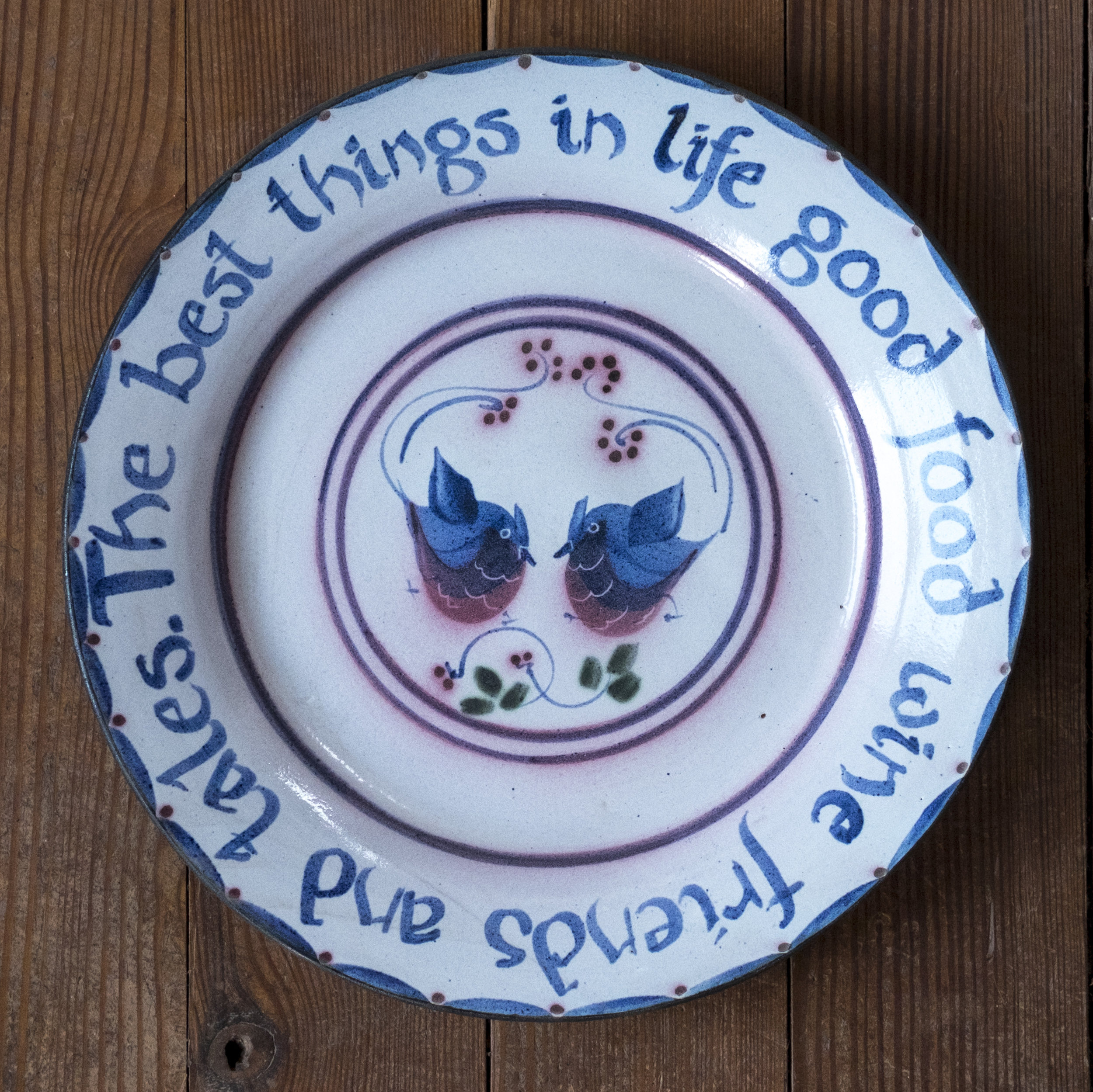 Kinsman Blake Ceramic The Best Things in Life, Dish, Plate