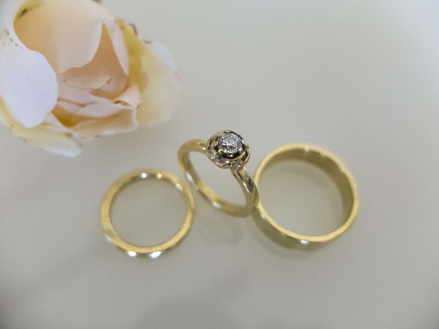 Diamond and Gold Rose Engament Ring.jpg