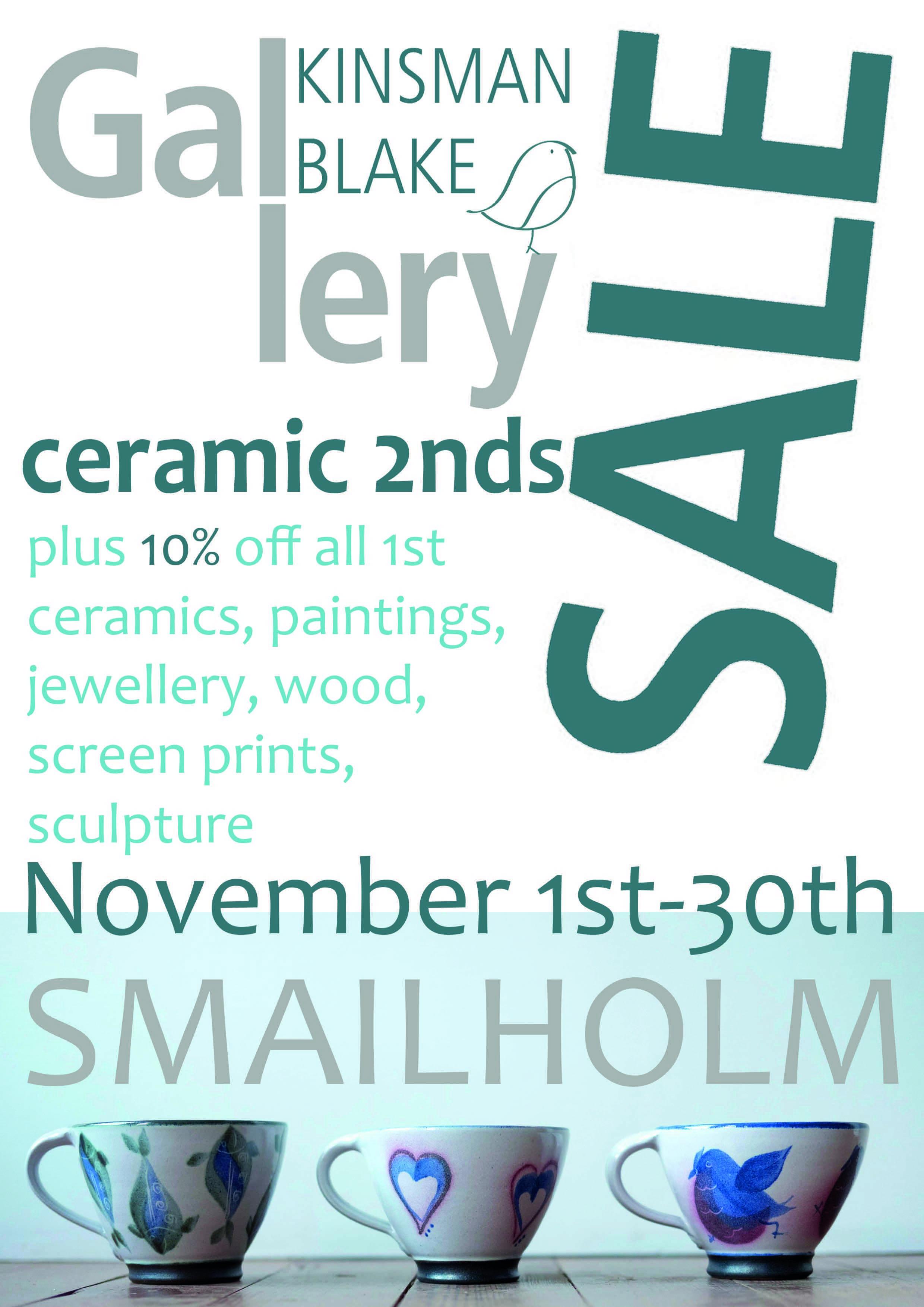 Ceramics Seconds Sale