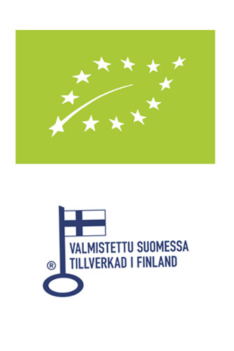Certified organic and made in Finland