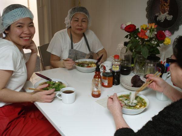 Vi lagar Mama Mem's färsk tofu - var så goda