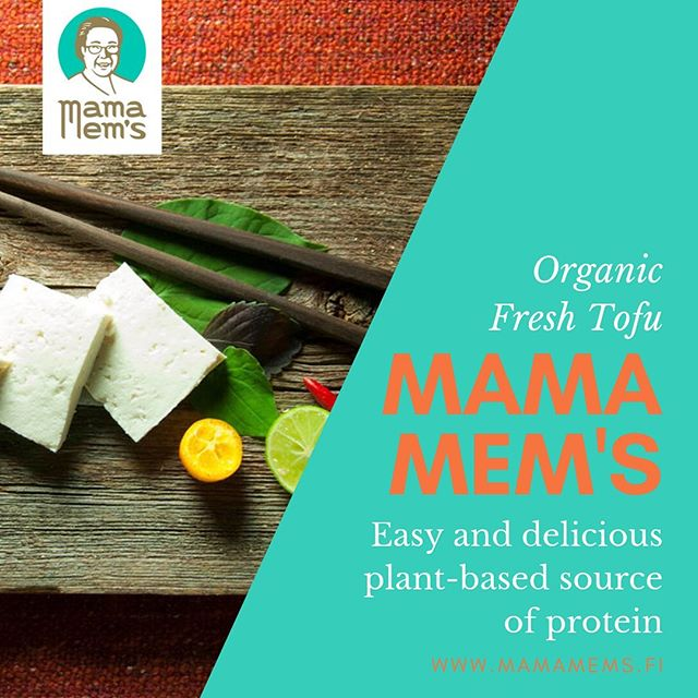 Remember that tofu is high in protein and contains all of the essential amino acids your body needs. It also provides fats, carbs, and a wide variety of vitamins and minerals.🌱🥗👍 Mama Mem's Fresh Organic Tofu is an easy and delicious way to implement a light and healthy vegeterian diet. 🌱🥗🍜 #mamamems #tofu #fresh #organic #vege #vegan #vegefood #veganfood #madeinhelsinki #ecofriendly #nutrition #mamamemstofu