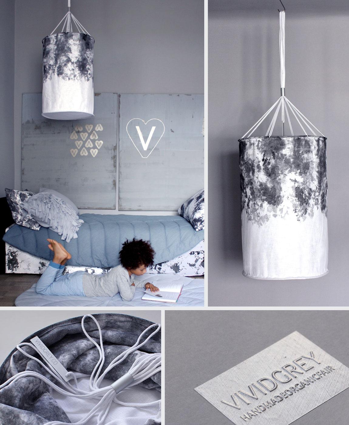 Shown above:   Hand-Painted Lantern – Dark Pebble