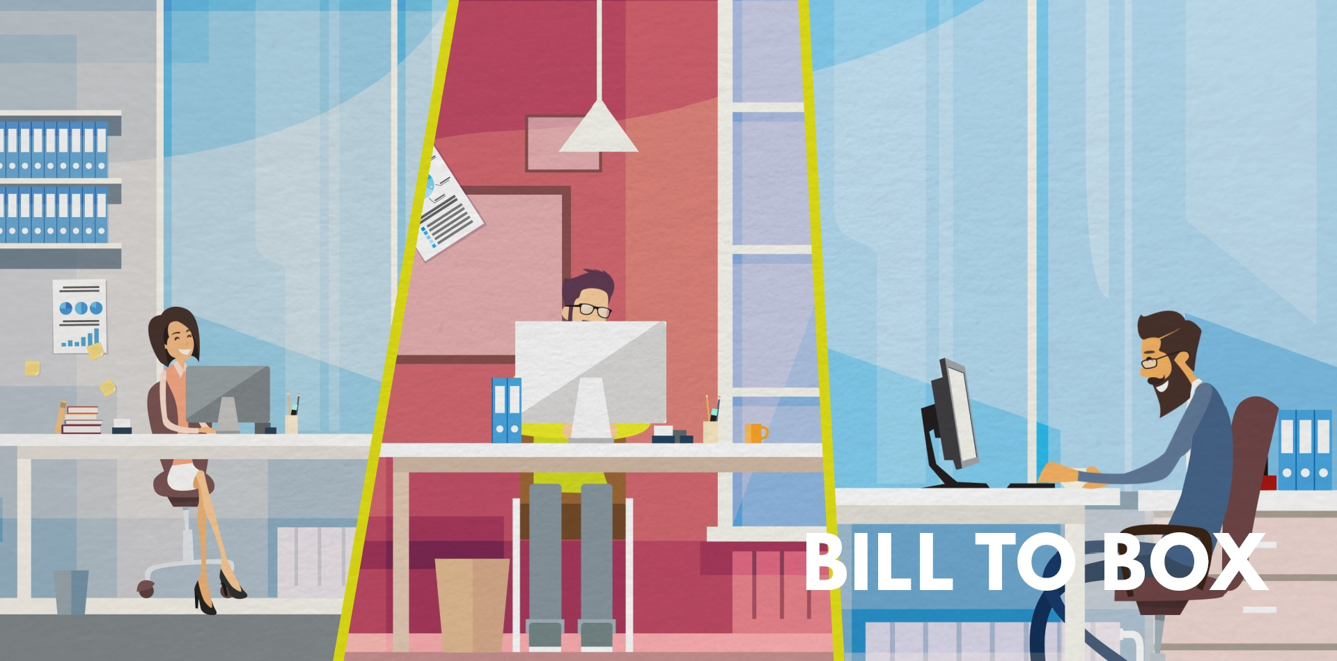 Animated video Bill to box..