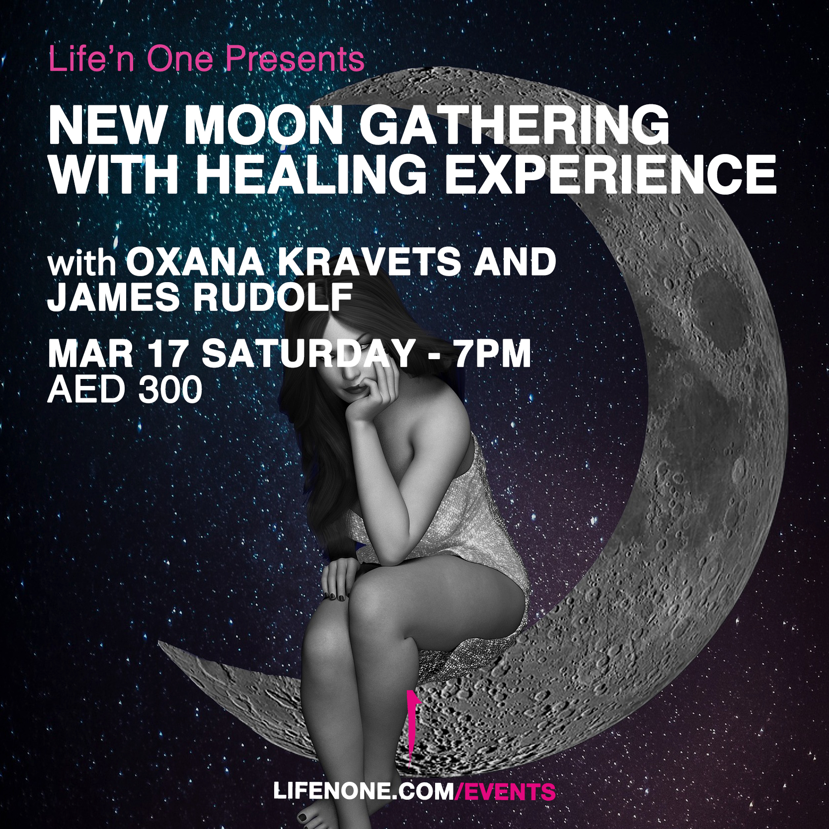 New Moon Gathering with Healing Experience with Oxana Kravets and James Rudolf
