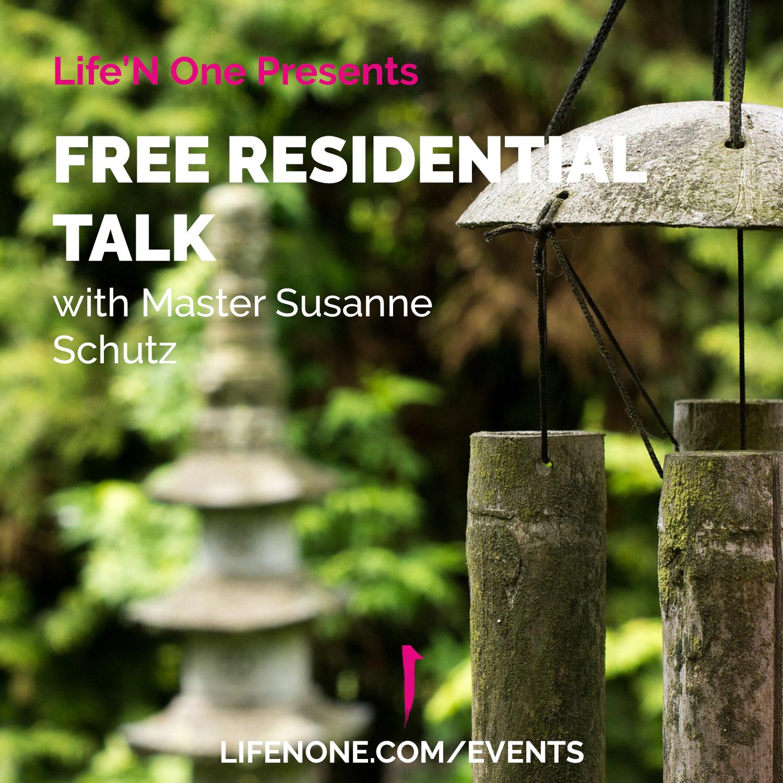 Free Residential Talk Master Susanne Schutz