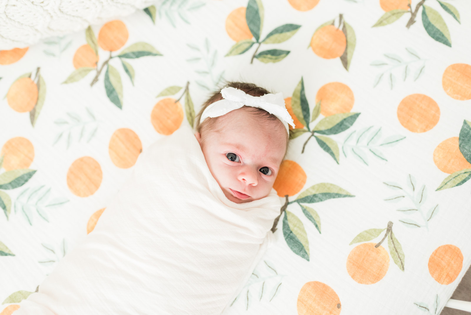 Baby Girls & Oranges Columbia, SC Newborn Session_Markie Walden Photography-30.jpg