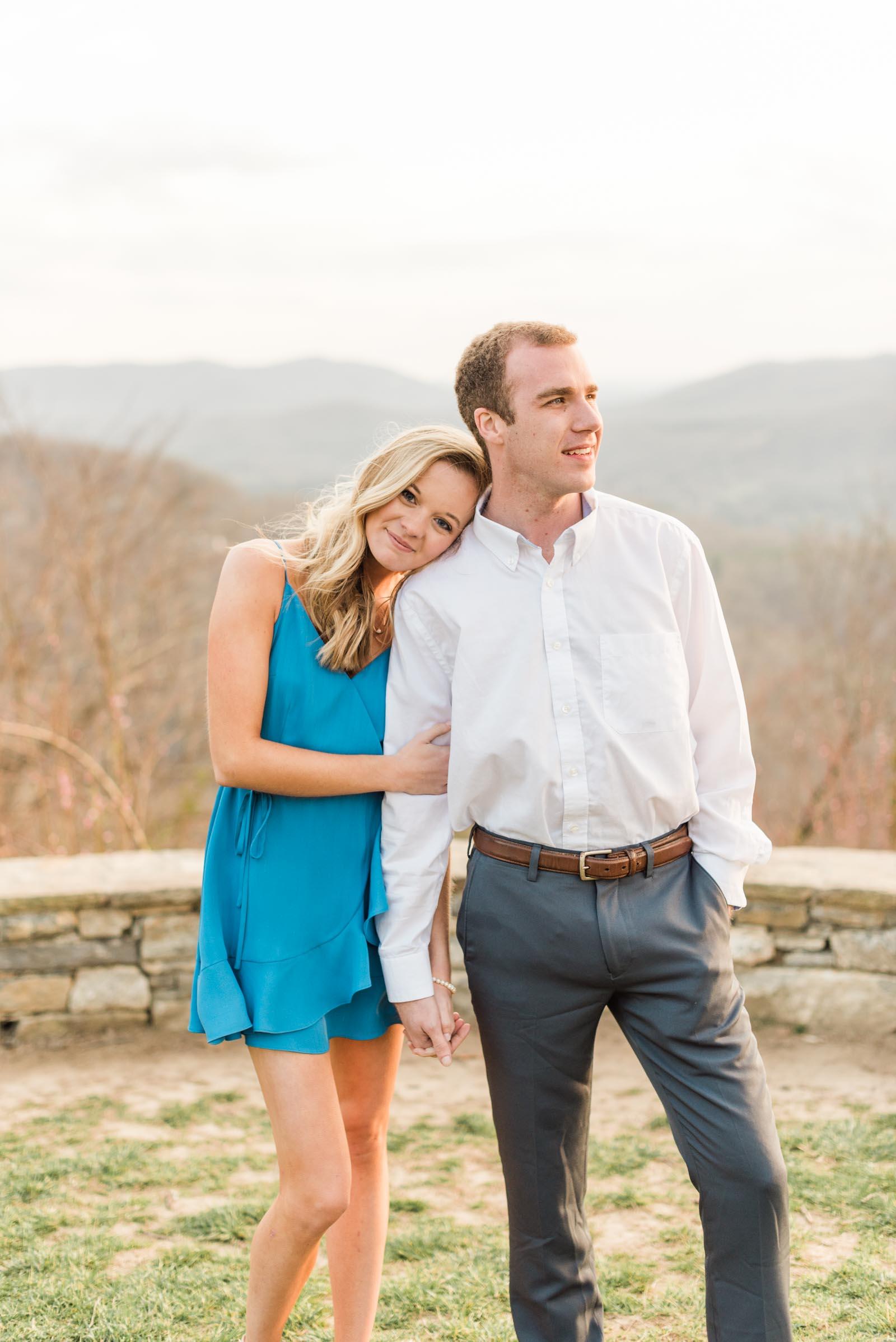 Sunset Mountain Engagement in North Carolina Morgan & Nathan Markie Walden Photography-14.jpg